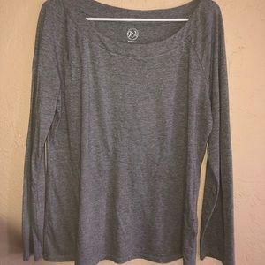Gray tee shirt.  Purchased at Von Maur.